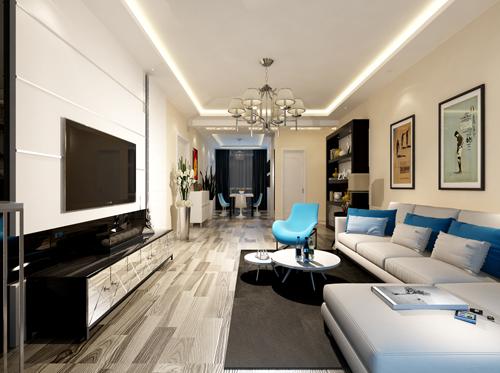 诺德中心146平米现代风格设计方案