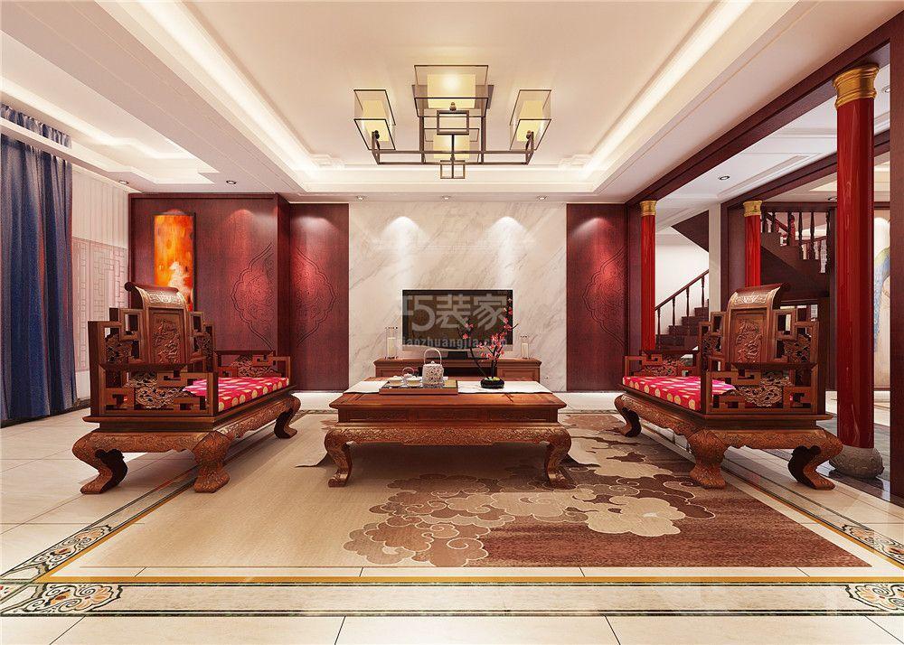 长九中心260平新中式风格设计方案