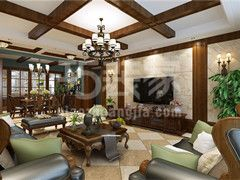 华润橡府160平美式风格设计方案