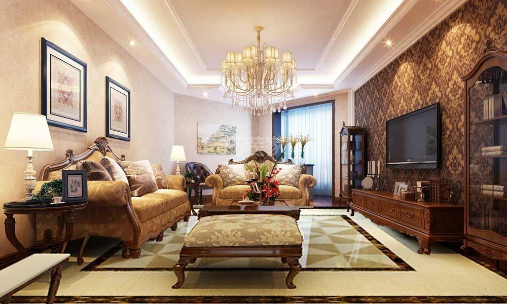 -中海安德鲁斯庄园170平美式乡村风格设计方案