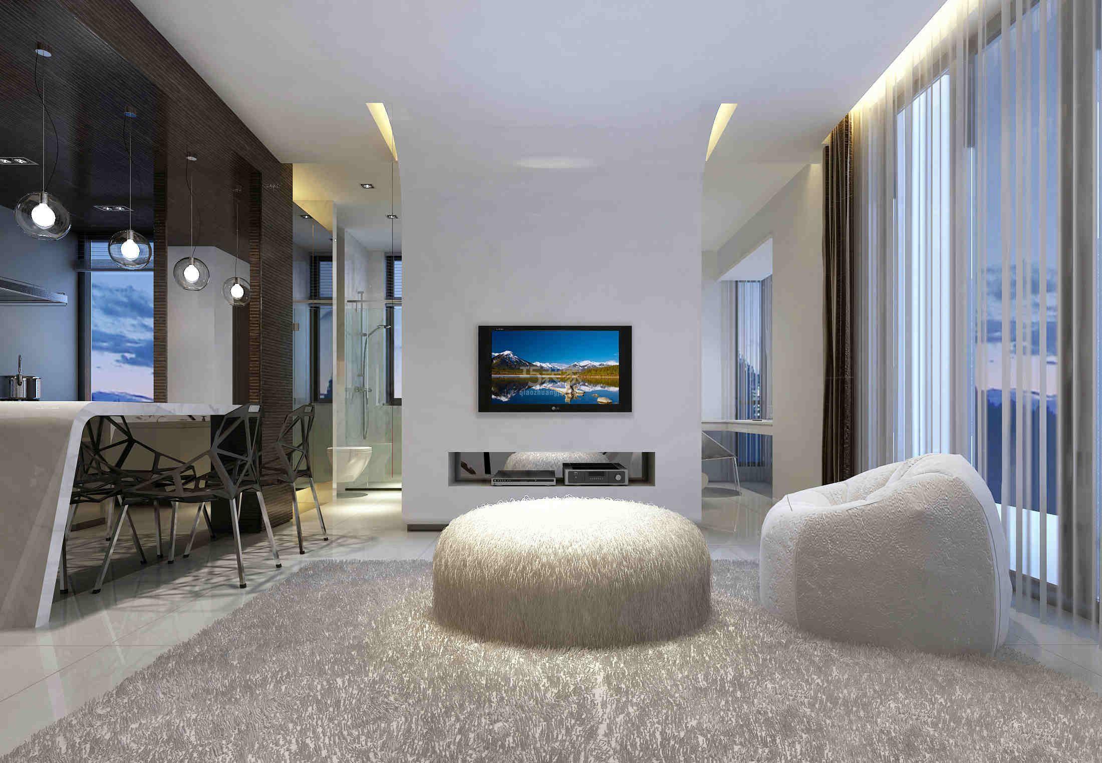 -望京知语城50平米现代风格设计方案