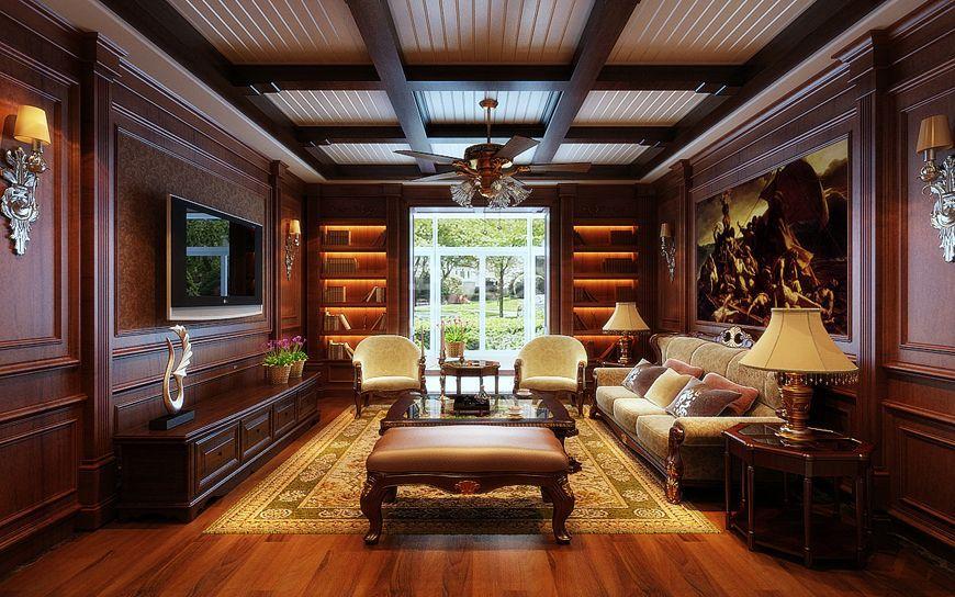 西工大家属院180平中式风格设计方案