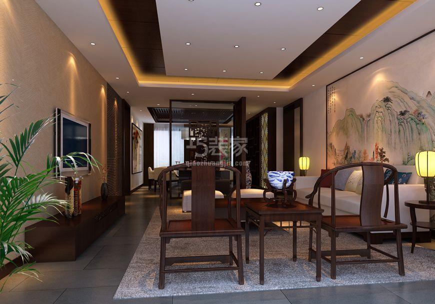 枫叶新都市140平新中式风格设计方案