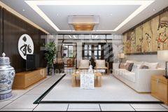 红枫林180平中式风格设计方案