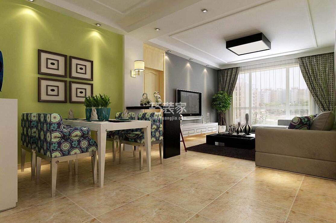 国赫红珊湾132平现代简约风格设计方案