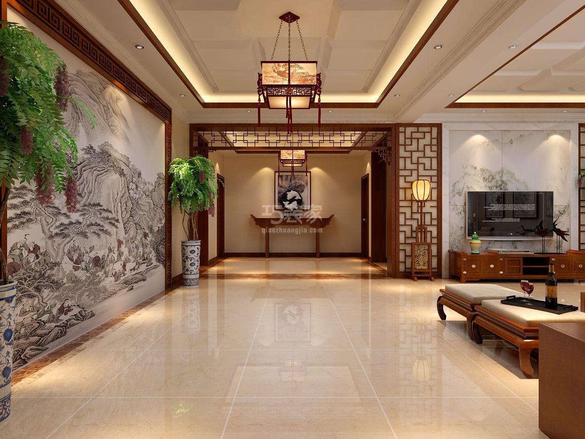 鹿泉曲寨350平新中式风格设计方案