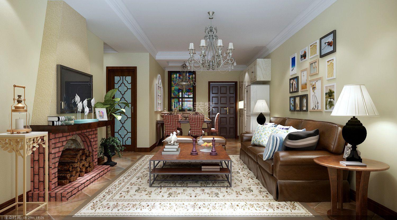 东胜紫御府120平美式风格设计方案