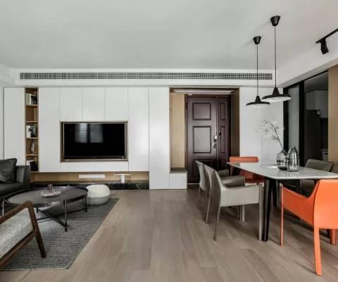 83平的现代风小户型二居室