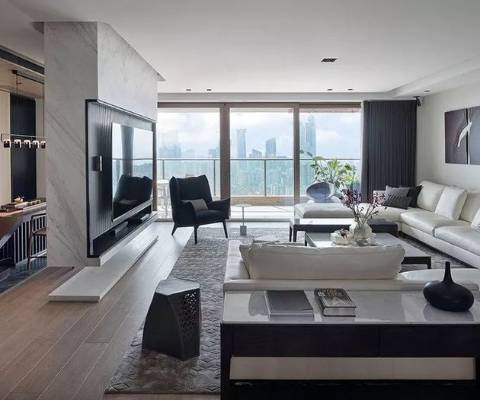 繁华都市里的宁静绿洲 | 165坪住宅设计