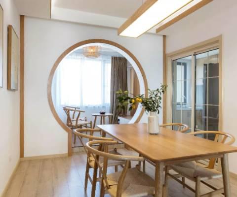 三居室原木风设计,与自然零距离