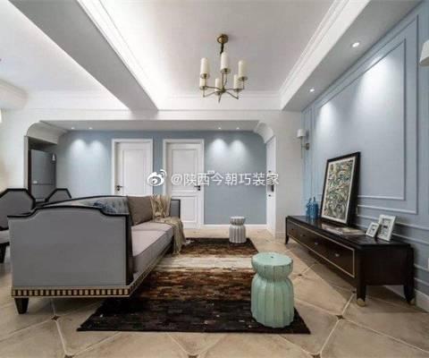 西安文景小区130三居室平美式风格设计