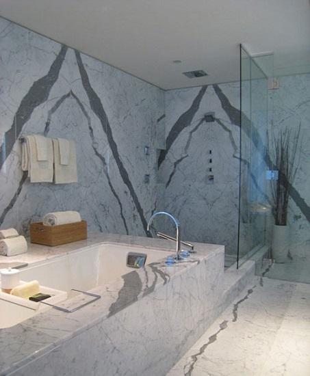 原来大理石浴缸这么美