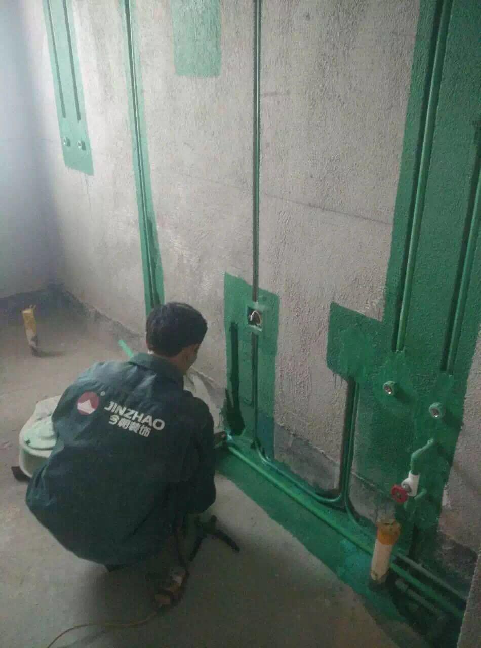 水电阶段完全按照今朝装饰标杆工程标准来做,横平竖直!