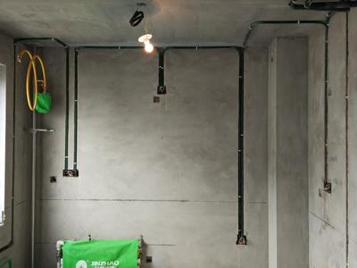 电路布线按标准分,水电改造直线90度平面错层,水路已经做打压试验达到标准水压值,电线线头无裸露。