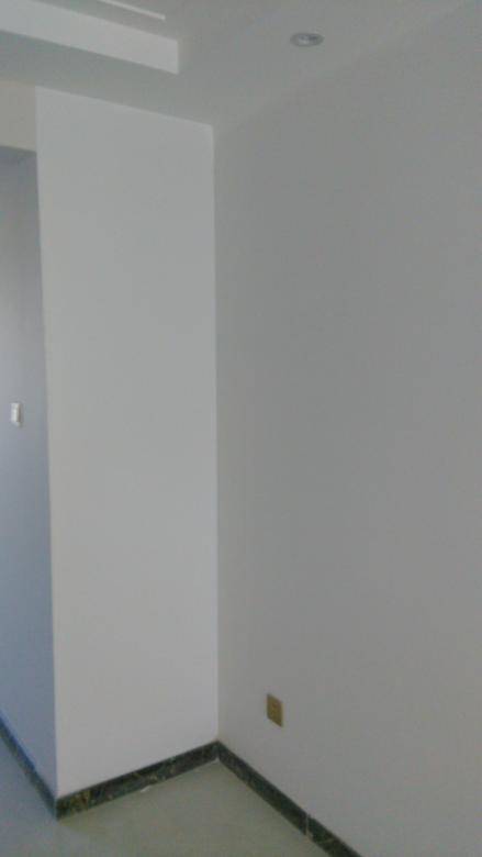 涂料刷完后无流坠沙眼刷纹返碱现象达到标准施工,涂料刷完后色差在标准控制范围内,分色线清晰平直。