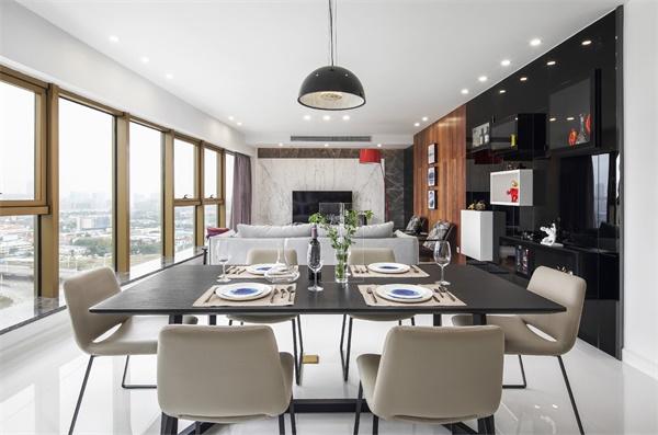 现代简约二居室ballbet贝博网址客餐厅全景图.jpg